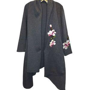 Miss Look Embroidered Jacket / Cardi Plus sz XXL